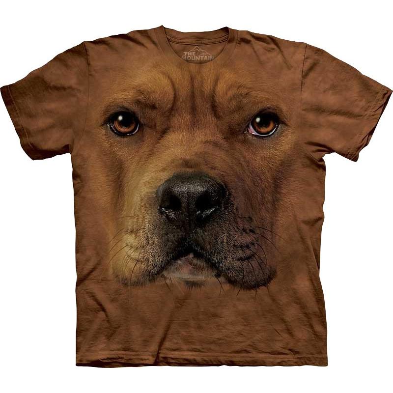 Pit Bull Face T Shirt The Mountain Clothingmonster Com