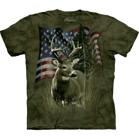 Deer Flag T-Shirt The Mountain