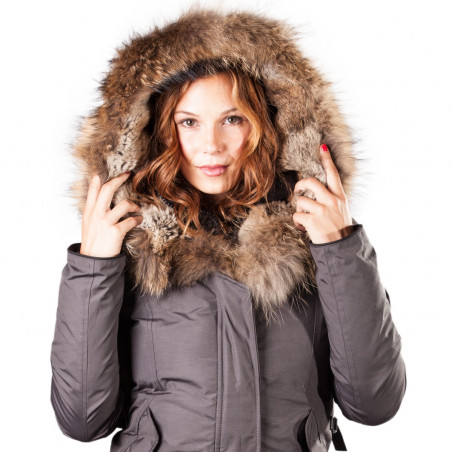 Arctic North Women Mont Tremblant Grey Parka