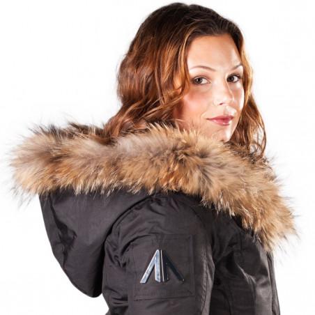 Arctic North Women Mont Tremblant Black Parka