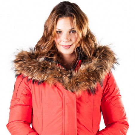 Women Parka Mont Tremblant Arctic North Red