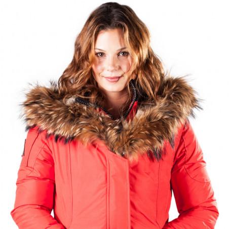 Women Parka Mont Tremblant Arctic North Red