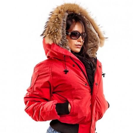 Arctic North Women Saint Sauveur Red Bomber Jacket