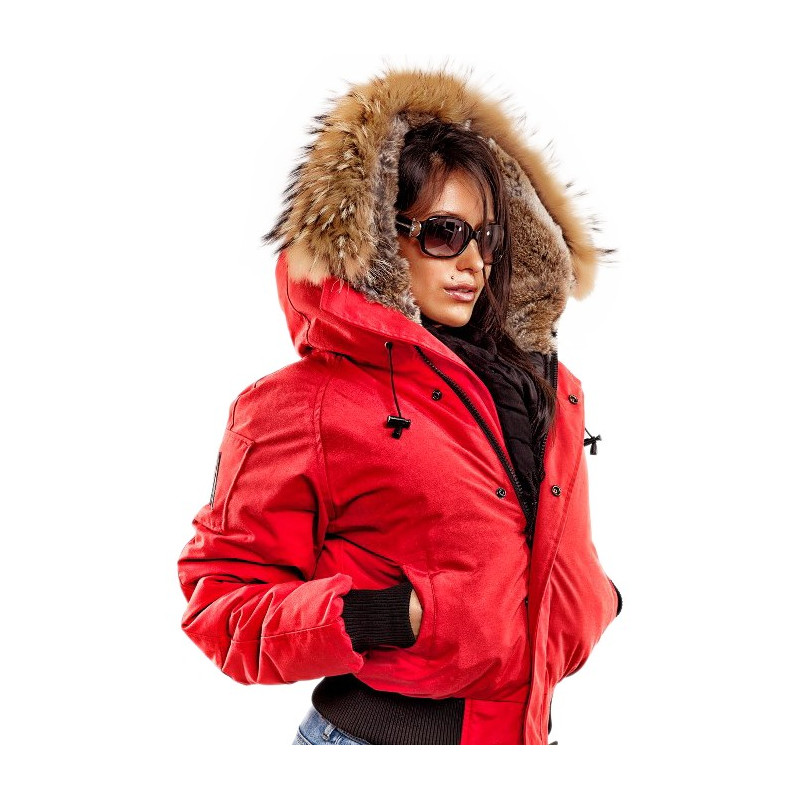 Women Bomber Jacket Saint Sauveur Arctic North Red ...