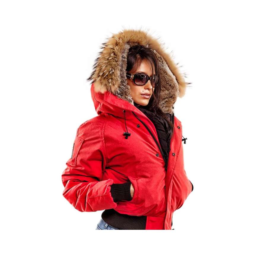 Women Bomber Jacket Saint Sauveur Arctic North Red ...