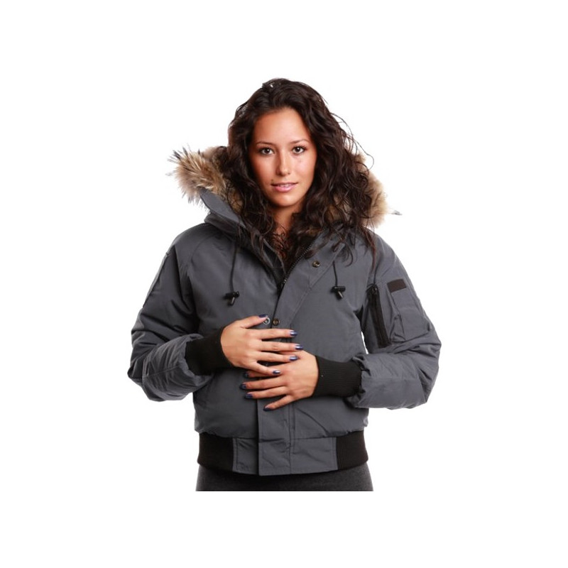 Bomber Jacket Women's Saint Sauveur Arctic North Grey ...