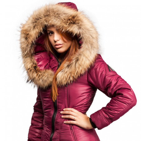 Women Puffer Jacket Sicilia-Shinny Arctic North Syrah