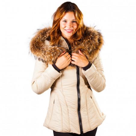Sicilia-Shinny Camel Puffer Jacket Women