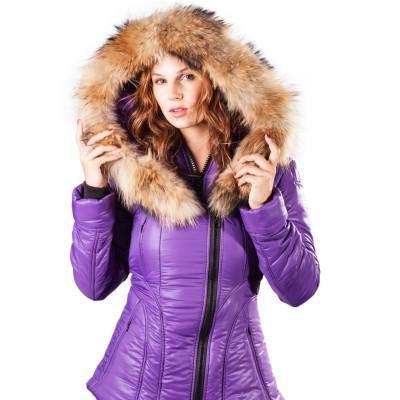 Arctic North Women Sicilia-Shinny Grape Puffer Jacket