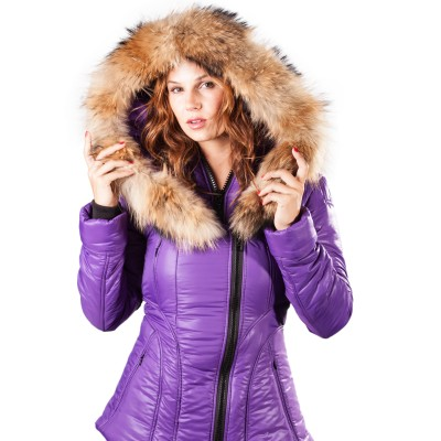 Damen Pufferjacke Sicilia-Shinny Arctic North Tomate Traube