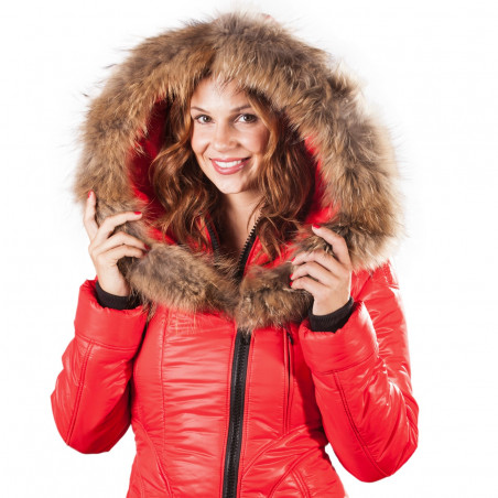 Women Puffer Jacket Sicilia-Shinny Arctic North Tomato