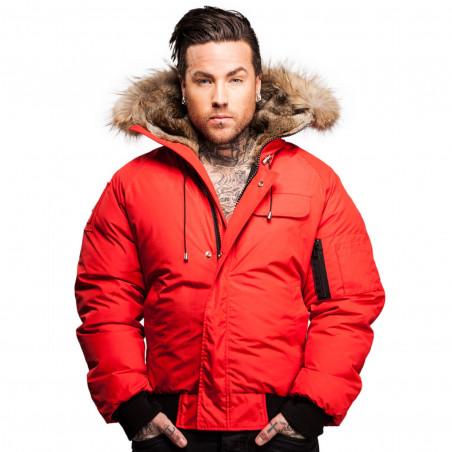 Arctic North Men Saint Sauveur Red Bomber Jacket