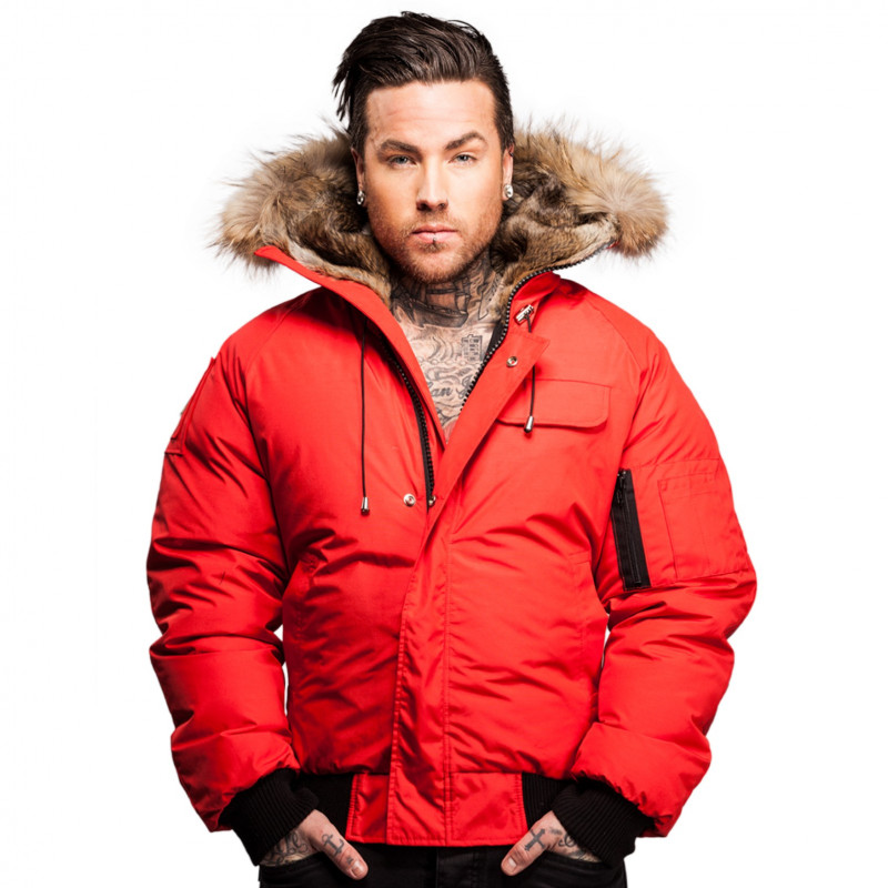Bomber Jacket Men Saint Sauveur Arctic North Red - clothingmonster.com