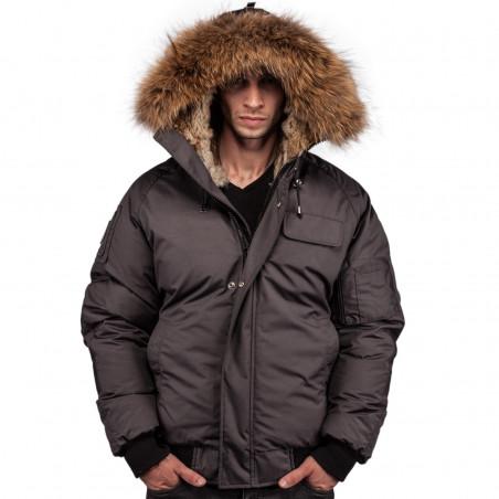 Arctic North Men Saint Sauveur Grey Bomber Jacket