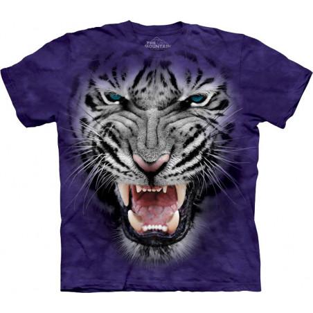Raging Big Face White Tiger T-Shirt