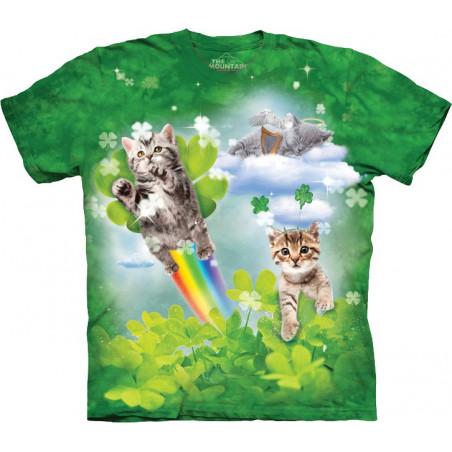 Green Irish Fairy Kittens T-Shirt The Mountain