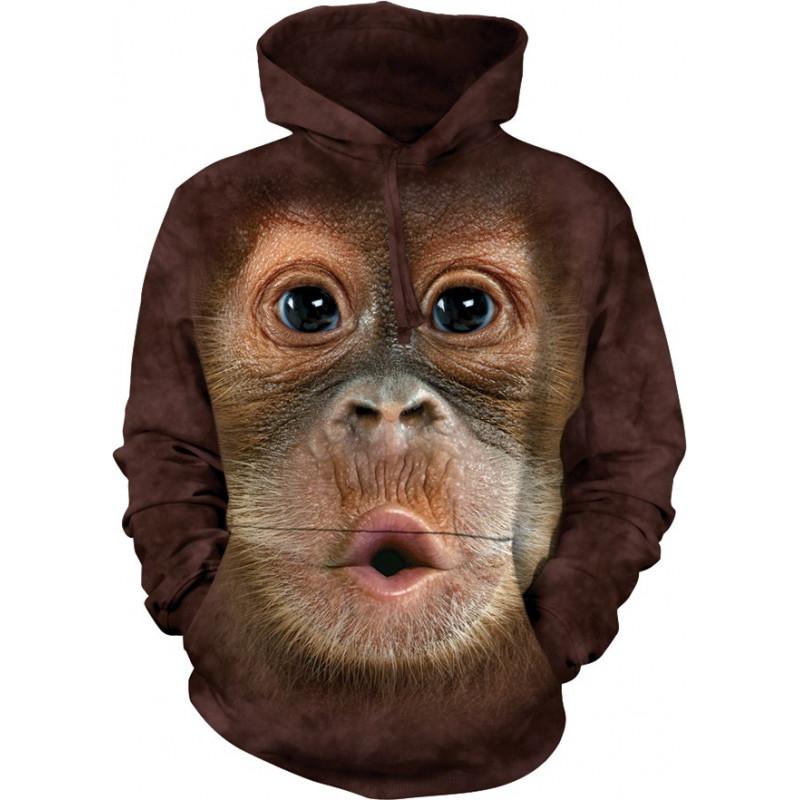 Big Face Baby Orangutan Hoodie The Mountain