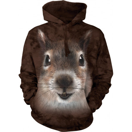 Squirrel Face Hoodie The Mountain