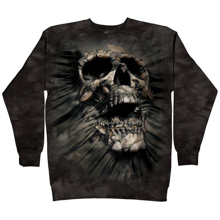 Breakthrough Skull Crew Neck Sweatshirt