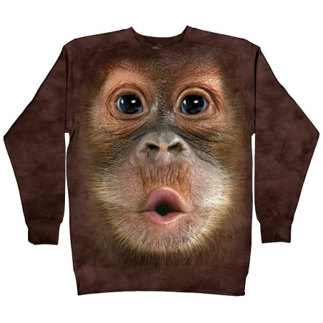 Big Face Baby Orangutan Crew Neck Sweatshirt The Mountain