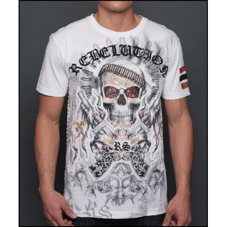 Rose Eyes Skull SS Tee Men Rebel Spirit