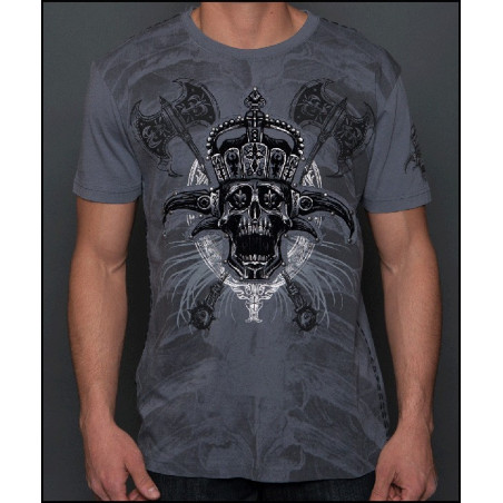 Crown Skull Axes SS Tee Men Rebel Spirit