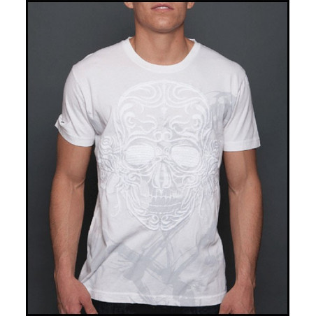 Big Skull White SS Tee Men Rebel Spirit