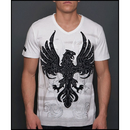 Embroidered Eagle SS Tee Men Rebel Spirit