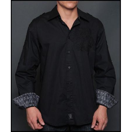 Rebel Spirit Men Eagle Black LS Shirt
