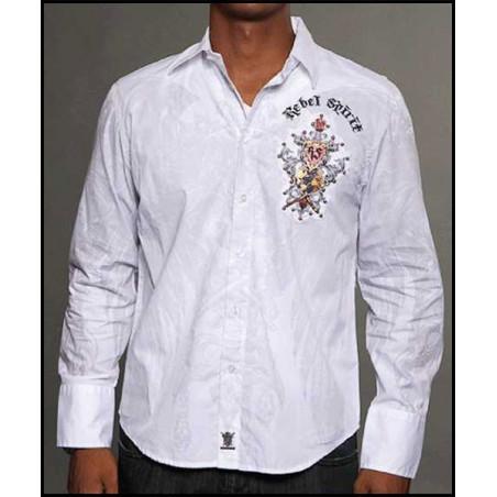 Rebel Spirit Men World Domination LS Shirt