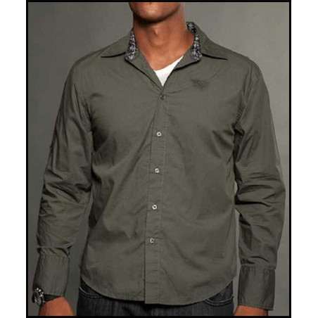 SHIRTS - LSW121281-OLIVE