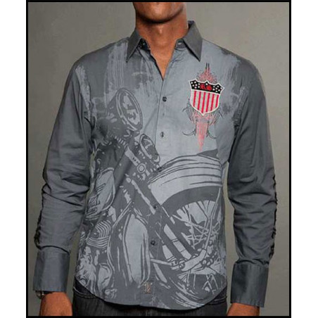 King Shield LS Shirt Men Rebel Spirit