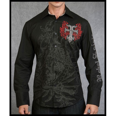SHIRTS - LSW111099-BLK