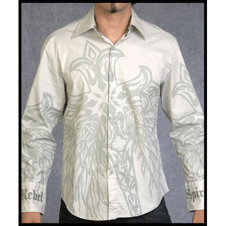 Cross Wings LS Shirt Men Rebel Spirit