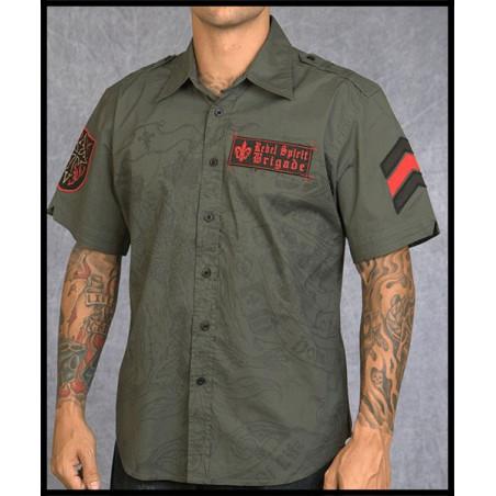 Royal Life Olive SS Shirt Men Rebel Spirit