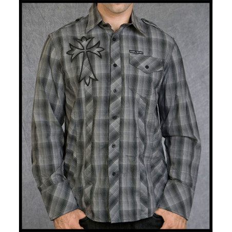 Big Cross LS Shirt Men Rebel Spirit