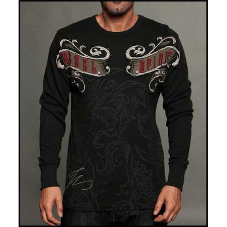 Rebel Spirit Men Shield Cross LS Thermals