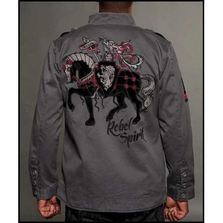 Equestrian Charcoal Jacket Men Rebel Spirit