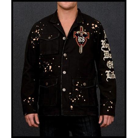 Double Cross Skulls Jacket Men Rebel Spirit