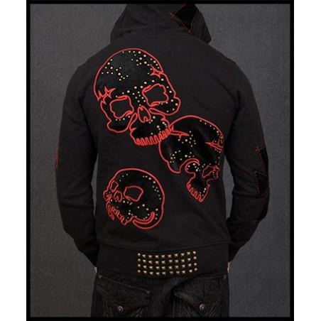 Skulls Hoodie Men Rebel Spirit