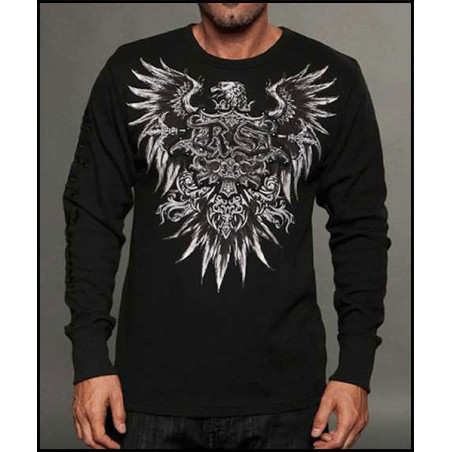 Rebel Spirit Men Eagle Spread Wings LS Thermals