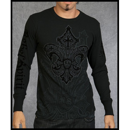 Fleur De Lis LS Thermals Men Rebel Spirit