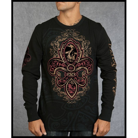 Rebel Spirit Men Skull Lily LS Thermals
