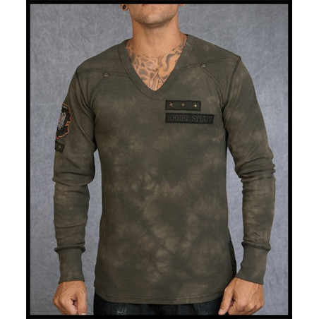 Rebel Spirit Men Brigade Olive LS Thermals