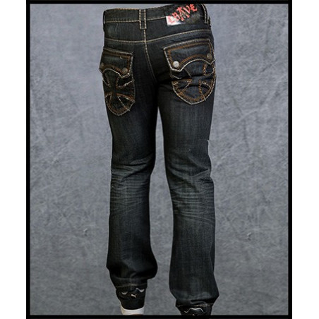 Cross Pockets Jeans Men Rebel Spirit