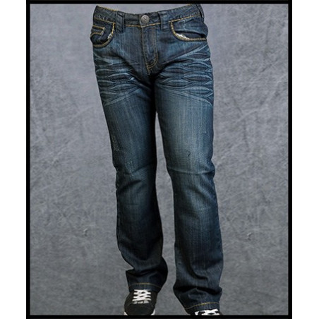 Blue X Pockets Jeans Men Rebel Spirit