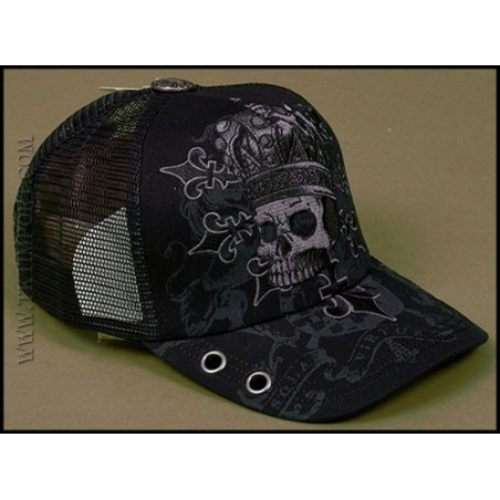 Rebel Spirit King Skull Cap