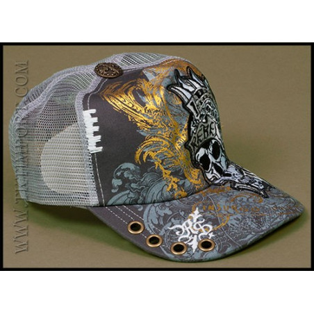 Rebel Spirit Warrior Skull Cap
