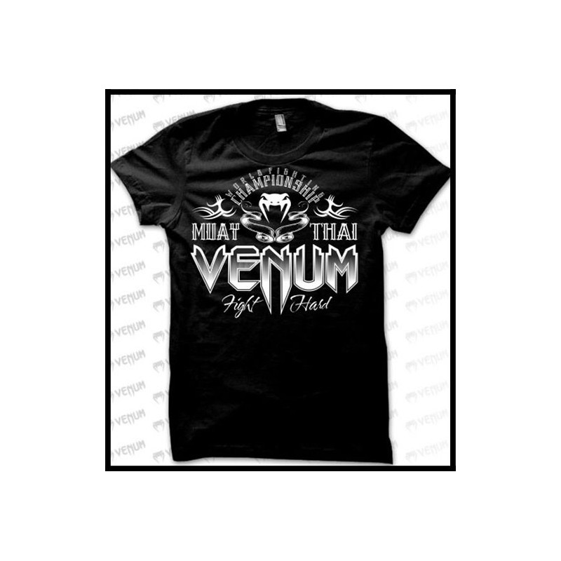 a9bedc89556 Muay Thai Champion Black T-Shirt Men Venum - clothingmonster.com
