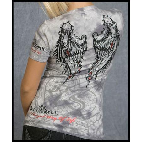 Wings At Back SS Tee Women Rebel Spirit